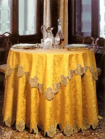 Скатерть для круглого стола своими руками фото