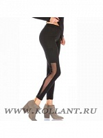 RP Брюки-леггинсы LR211F LEGGINGS CON TASCA LATERALE IN TULLE DONNA SINGOLO