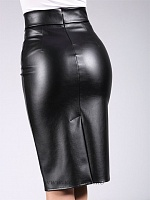 PENCIL SKIRT leather 01